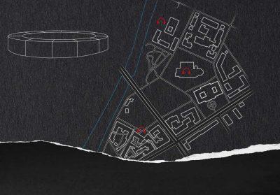 Kartta ääniteoksen kuuntelupaikoista.